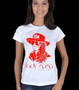 just-style - EN35070 Lady Gaga Görselli Bayan Tişört Kadın Tişört