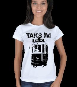 just-style - EN35074 İstanbul-Taksim YS4 Görselli Bayan Tişört Kadın Tişört