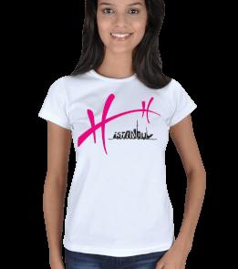 just-style - EN35075 İstanbul-Taksim YS5 Görselli Bayan Tişört Kadın Tişört
