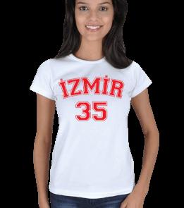 just-style - EN35081 İzmir YS11 Görselli Bayan Tişört Kadın Tişört