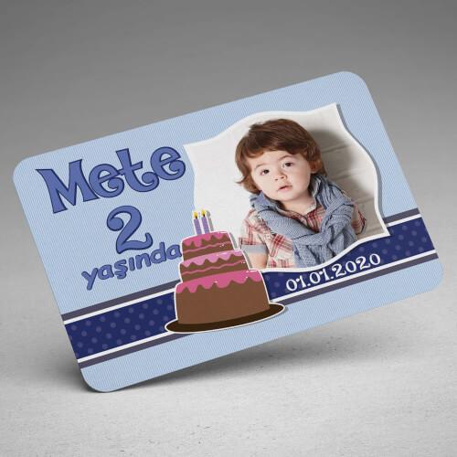 Erkek Bebek Doğum Günü Magneti - Thumbnail