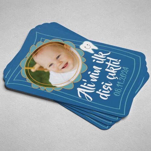 Erkek Bebek İçin İlk Diş Magneti - Thumbnail