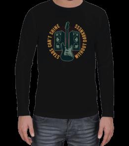 alicegraphic - Erkek gitar desenli triko Erkek Uzun Kol