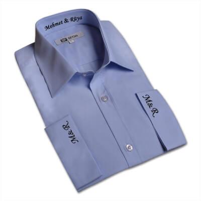 Tisho - Erkeklere Özel Nakış İşlemeli Gömlek