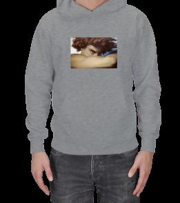Teşrin - Fallen Angel Eseri Baskılı Sweatshirt Erkek Kapşonlu