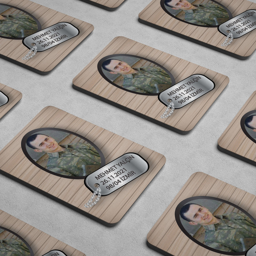 Fotoğraflı Asker Magneti - Thumbnail