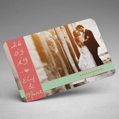 Fotoğraflı Düğün Davet Magneti