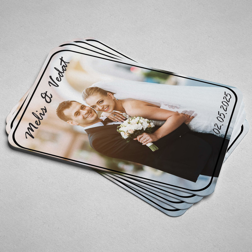 Fotoğraflı Düğün - Nişan Magnetleri - Thumbnail