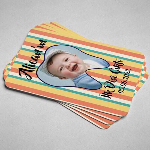 Fotoğraflı İlk Diş Partisi Magneti - Thumbnail
