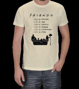 Turuncu Oda Tasarım - Friends / Like Them Baskılı Erkek Tişört