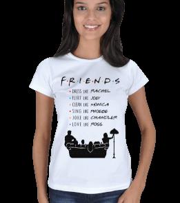 Turuncu Oda Tasarım - Friends / Like Them Baskılı Kadın Tişört