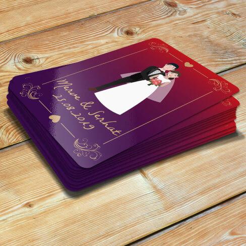 - Gelin Damat Tasarımlı Düğün Magneti