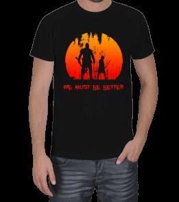 Turuncu Oda Tasarım - God of War | Must Be Better Baskılı Erkek Tişört