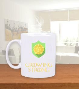 Deep - Growing Strong Beyaz Kupa Bardak