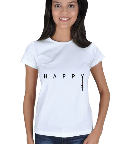 S A D - Happy? Kadın Tişört