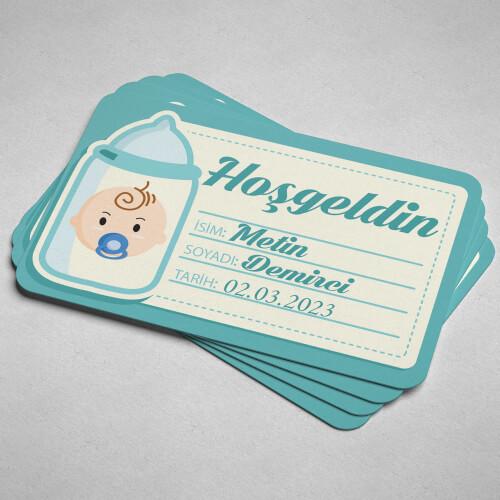 Hoşgeldin Erkek Bebek Magneti - Thumbnail