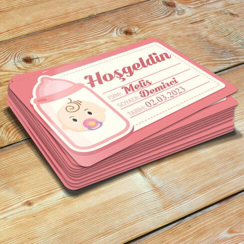 Hoşgeldin Kız Bebek Magneti - Thumbnail