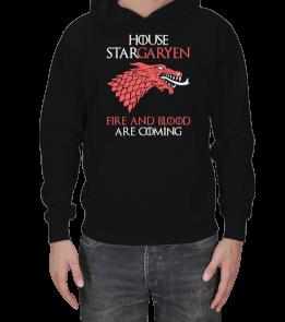 Tasarım Atölyesi - House Stark-Targaryen Erkek Kapşonlu