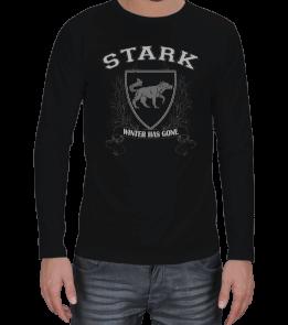 AydınShop - House Stark Tshirt Erkek Uzun Kol