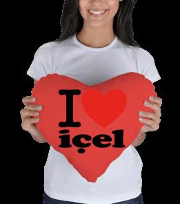 Solak Avm - I love Mersin, İçel Kalp Yastık