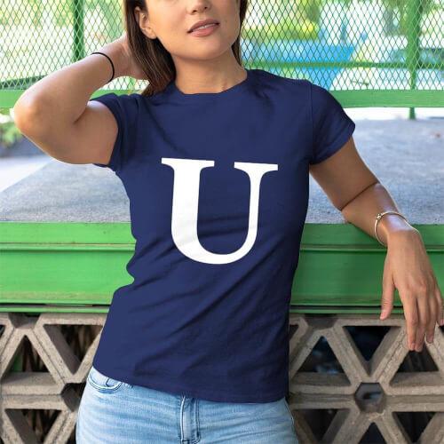 I Love U Kadın Tişört - Tekli Kombin