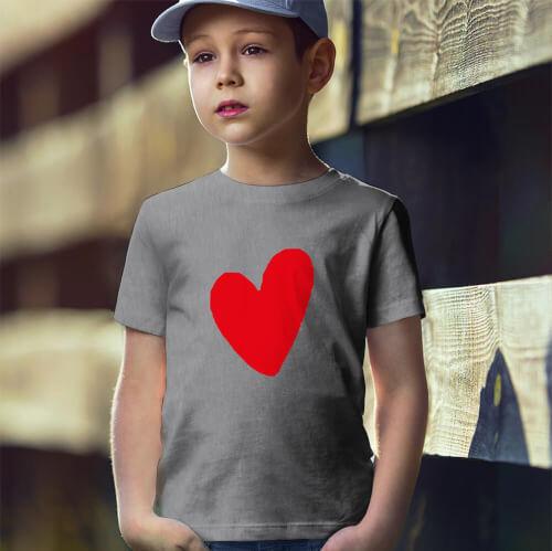 Tisho - I Love You Erkek Çocuk Kısa Kol Tişört - Tekli Kombin
