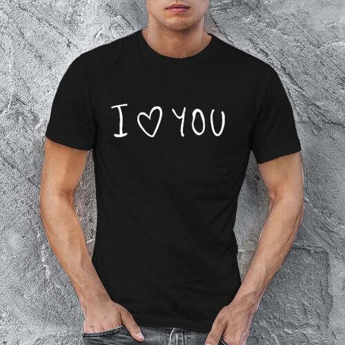 Tisho - I Love You Erkek Kısa Kol Tişört