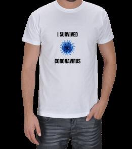 ADEMCODESIGN - I Survived Coronavirus Erkek Tişört