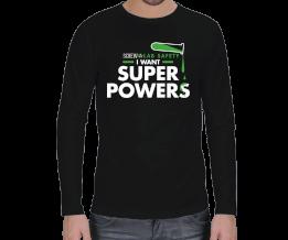 ATT - I want Super Powers Erkek Uzun Kol
