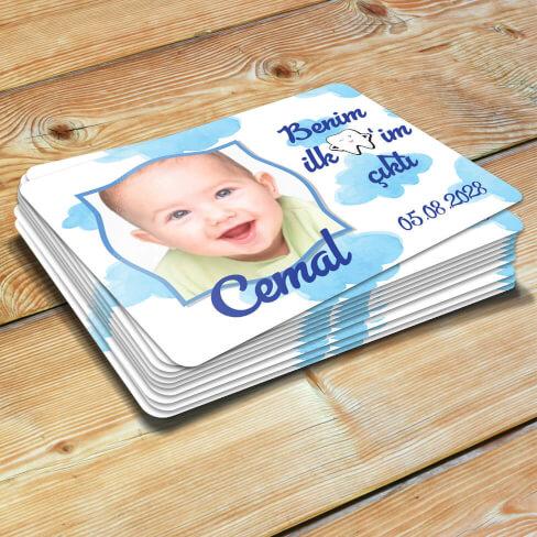 Tisho - İlk Dişim Çıktı Erkek Bebek Magneti