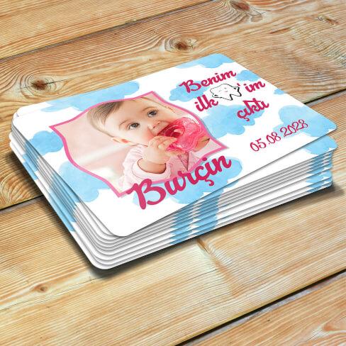 - İlk Dişim Çıktı Kız Bebek Magneti