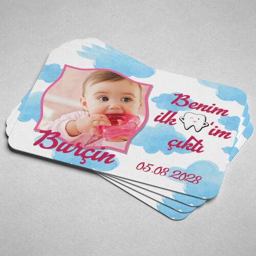İlk Dişim Çıktı Kız Bebek Magneti