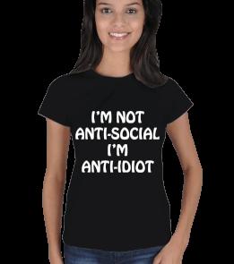 Mare Design - Im not anti-social Kadın Tişört