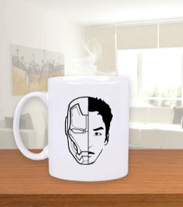 Geek-Shirt - Iron Stark Beyaz Kupa Bardak