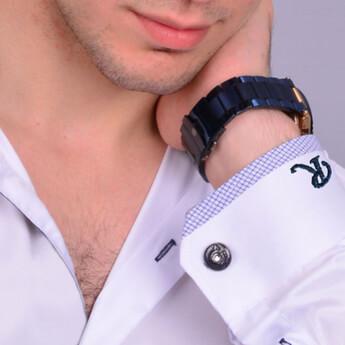 İsim ve Mesaj Yazılı Kişiye Özel Erkek Gömlek