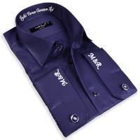 - İsim Yazılı Nakış İşlemeli Erkek Gömlek