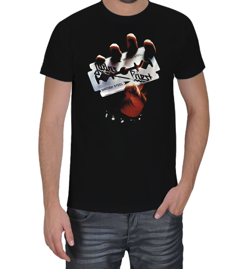 kemik - Judas Priest British Steel Erkek Tişört