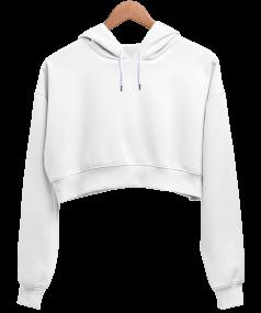 Tisho - Kadın Crop Hoodie Kapüşonlu Sweatshirt