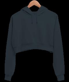 Kadın Crop Hoodie Kapüşonlu Sweatshirt