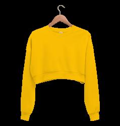 Kadın Crop Sweatshirt - Thumbnail
