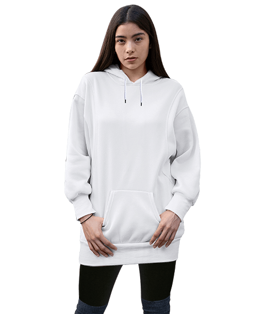 2 - Kadın Uzun Hoodie Kapüşonlu Sweatshirt
