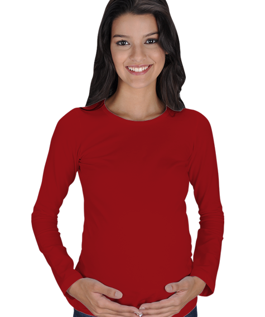 Kadın Uzun Kollu Hamile Tişört - Thumbnail