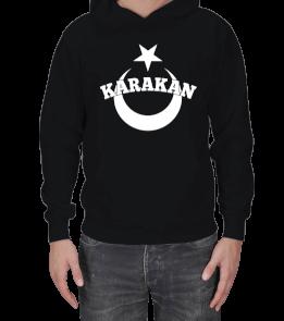 TisörtÇarşısı - Karakan Kapşon Erkek Kapşonlu