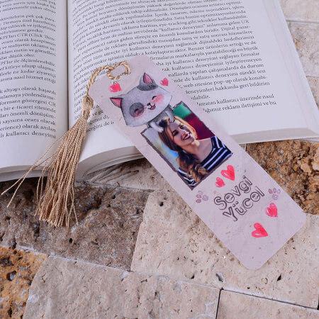- Kedi Tasarımlı Kitap Ayracı