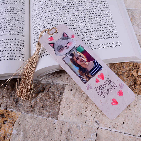 Kedi Tasarımlı Kitap Ayracı