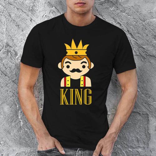 Tisho - King Erkek Kısa Kol Tişört - Tekli Kombin