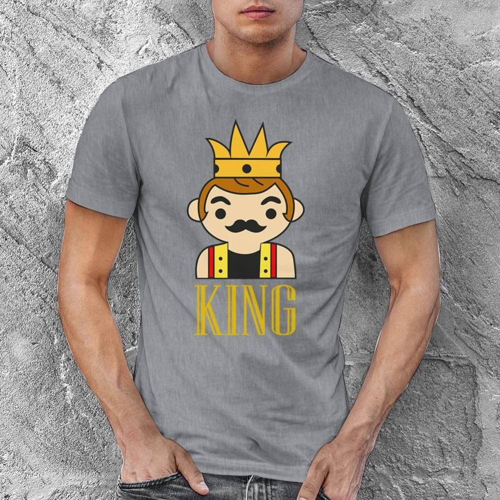 King Erkek Kısa Kol Tişört - Tekli Kombin