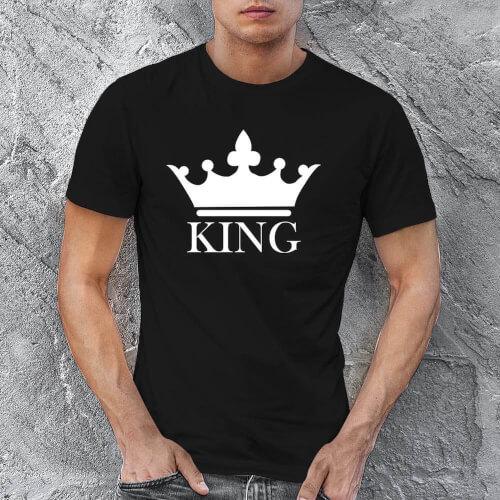 King Erkek Tişört - Tekli Kombin