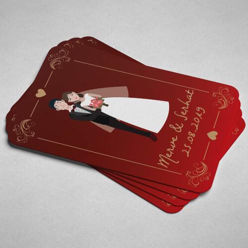 Kırmızı Düğün Magneti