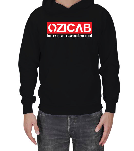 Ozicab Web Design - Kırmızı Ozicab Logolu Erkek Kapşonlu